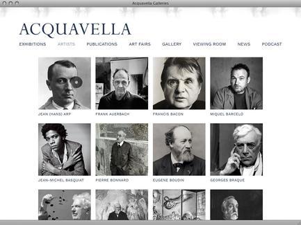 Acquavella Galleries - News - exhibit-E | Website Design for the Art World