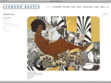 Lehmann Maupin - News - exhibit-E | Website Design for Art World