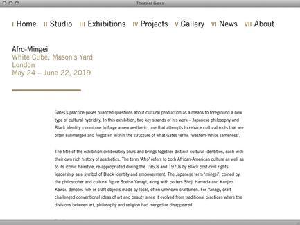 Theaster Gates - News - exhibit-E | Website Design for Art World