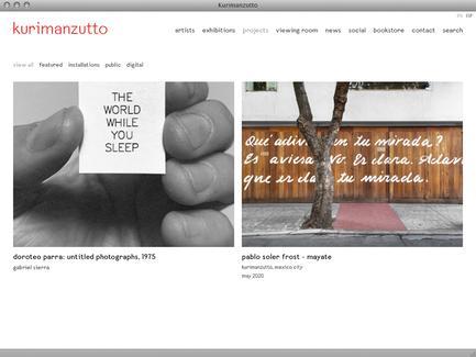 Kurimanzutto - News - exhibit-E | Website Design for the Art World