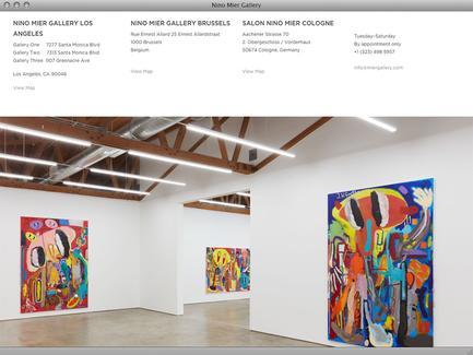 Nino Mier Gallery - News - exhibit-E | Website Design for the Art World